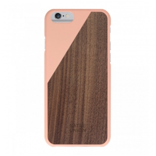 Dėklas Native Union CLIC Wooden case iPhone 6 Rožinis