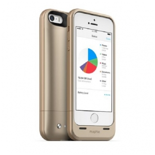 Dėklas-baterija Mophie iPhone 5/5S/SE Space pack 32gb gold + rechargeable battery