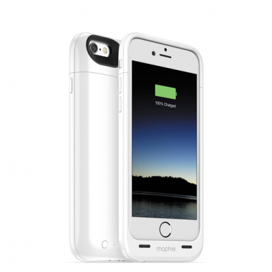 Dėklas-baterija Mophie iPhone 6 Juice Pack Air Battery Case (balta)