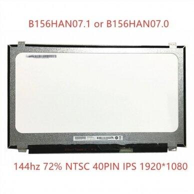Nešiojamo kompiuterio ekranas matrica 15.6″ 1920×1080 FULL HD IPS 40pin 144hz Slim EDP B156HAN07.1 360mm